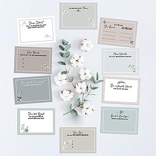 20 Gästebuch-Karten für die Hochzeit/Fragekarten zum Ausfüllen/süßes Hochzeitsgeschenk/Hochzeitsspiel/Greenery Hochzeit/Eu...