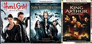 Greatest legends Triple DVD Snow White & The Huntsman + Hansel and Gretel Modern Fairy Tale + King Arthur Epic Story Action 3-Pack Feature