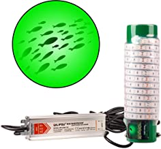 Green Blob Outdoors New Fishing Light (Green 7500 Lumen) Underwater, w/ 30ft Cord, LED, Fish Attractor, Crappie, Snook, Bass, Catfish (7,500 3-Prong Plug, Green)