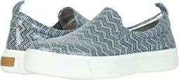 Light Blue Pattern Kid Suede