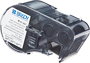 Brady Self-Laminating Vinyl Label Tape (M-51-427) - Black on White, Semi Clear Tape - Compatible with BMP41, BMP51, BMP53 Label Printers - 2.5