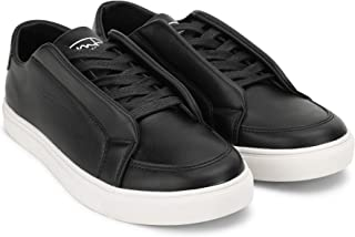 Mr.SHOES Men's Plain Single Colour Sneakers 2454/102 White/Black