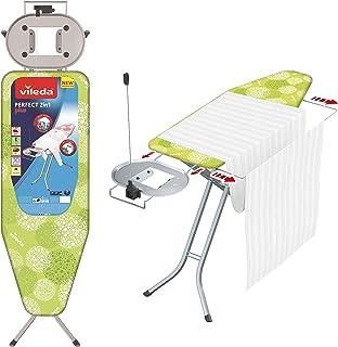 Vileda – Planche à repasser Perfect 2in1 Plus – Table à repasser avec prise de courant et repose-fer extra large – Hauteur...