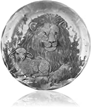 Coaster, Lion and Lamb, Hand-hammered Aluminum, Keeps Tabletops Safe, 4.5 Inch Round Coaster, Handmande in the USA by Wendell August Forge