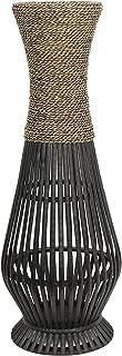 Hosley Tall Bamboo Wood Floor Vase 26
