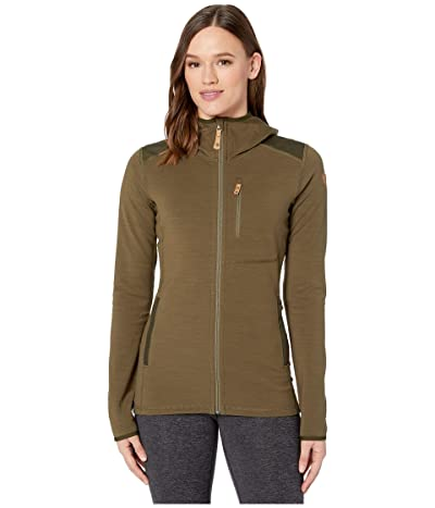 Fjallraven Keb Fleece Hoodie (Laurel Green/Deep Forest) Women