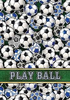 Toland Home Garden Soccer Balls 12.5 x 18 Inch Decorative Colorful Sport Play Ball Garden Flag