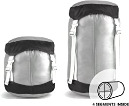Gobi Gear The SegSac Ultra Light 20L Compression Sack, Ripstop Fabric, with 4 Inner Compartments; GET Organized While Camping, Hiking or Traveling.