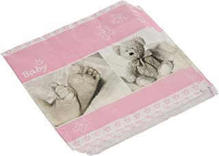 Home Fashion Lunch Napkin Baby Rose 33X33 cm, Pink, One Size
