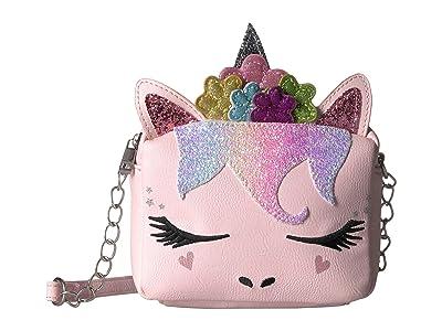 OMG! Accessories Flower Crown Unicorn Crossbody (Pink) Cross Body Handbags