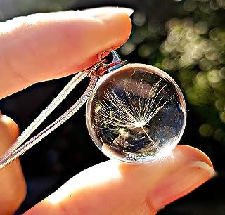 Gioielli di Natale Catena in argento sterling Collana di tarassaco pendente CONFEZIONE REGALO - collana da sposa gioielli ...
