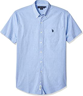 Men's Short Sleeve Swiss Dot Oxford Shirt