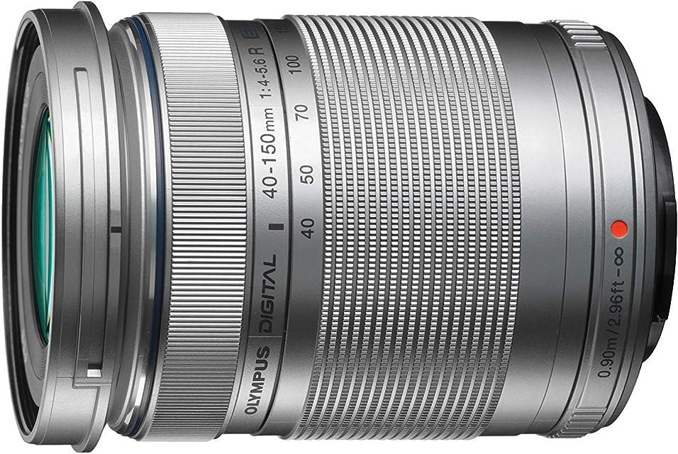Objetivo Olympus M.Zuiko Digital ED 40 - 150mm F4 - 5.6 II teleobjetivo adecuado para todas las cámaras MFT (modelos Olympus OM-D & PEN serie G de Panasonic) plata