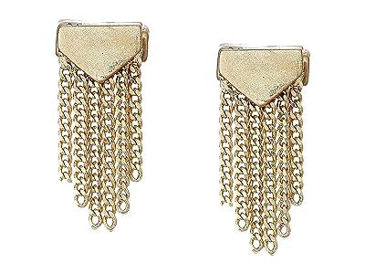 AllSaints Mini Fringe Stud Earrings (Warm Brass) Earring