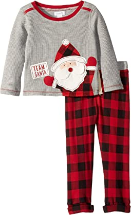 Christmas Team Santa Long Sleeve Two-Piece Set (Infant)