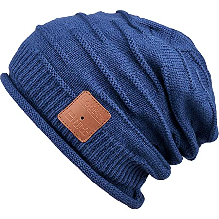 Mydeal Winter Unisex Bluetooth Beanie Hat Warm Skully Cap w/Wireless Headphone Headset Earphone Stereo Speaker Mic Hands Free for Outdoor Sport Skiing Snowboard Skating Hiking Camping