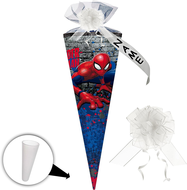 Alles-meine    GmbH 5 Stück _ Schultüten -  Spider-Man   Spiderman  - 50 cm - rund - incl. individueller Schleife - mit Namen - mit Tüllabschluß - Zuckertüte - mit   ohne Kunst.. B07CZDR23D | Sonderaktionen zum Jahresende  cd39a8