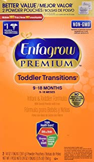 Enfagrow PREMIUM Non-GMO Toddler Transitions Formula - Powder Refill Box, 28 oz (Pack of 4)