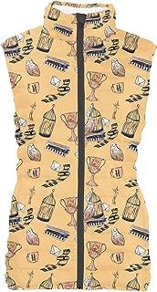 Rainbow Rules Hogwarts Handdrawn School Colors Womens Puffer Vest Bodywarmer Gilet