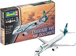 Revell- Embraer 195 Air DOLOMITI Model Set, Color Blanco, 23,7 cm (04884)