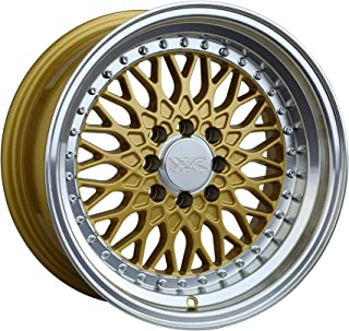 XXR 536 Hyper Gold/ML Wheel with Painted (15 x 8. inches /4 x 100 mm, 0 mm Offset)