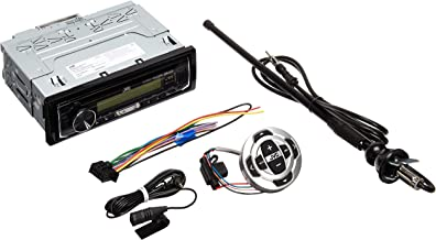 JVC In-Dash Marine Boat Yacht Bluetooth Radio USB Stereo Receiver CD Player Bundle Combo