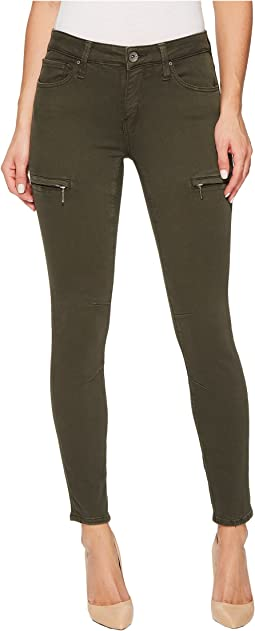 Karlina Mid-Rise Skinny Ankle in Military Twill