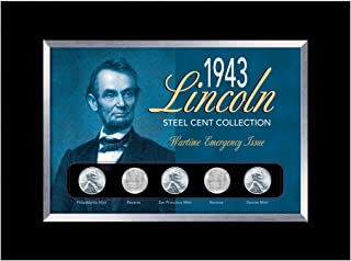 American Coin Treasures 1943 Lincoln Steel Penny Collection Wartime Emergency Issue in Small Frame