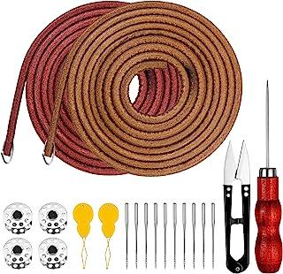 Homgaty - Juego de accesorios para máquina de coser, cinturón con 4 ganchos, 4 bobinas para máquina de coser, 2 enhebradores, 10 agujas para máquina de coser, 1 punzón y tijeras de costura Clippers