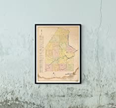Map|Maine General Highway County s, Aroostook 1938 County|Historic Antique Vintage Reprint|Size: 18x24|Ready to Frame