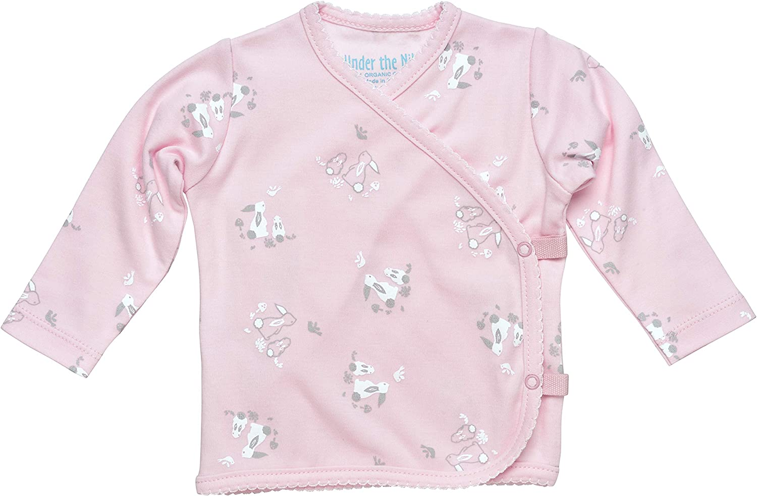 Under the Nile Baby Girl Long Sleeve Side Snap T-Shirt Size