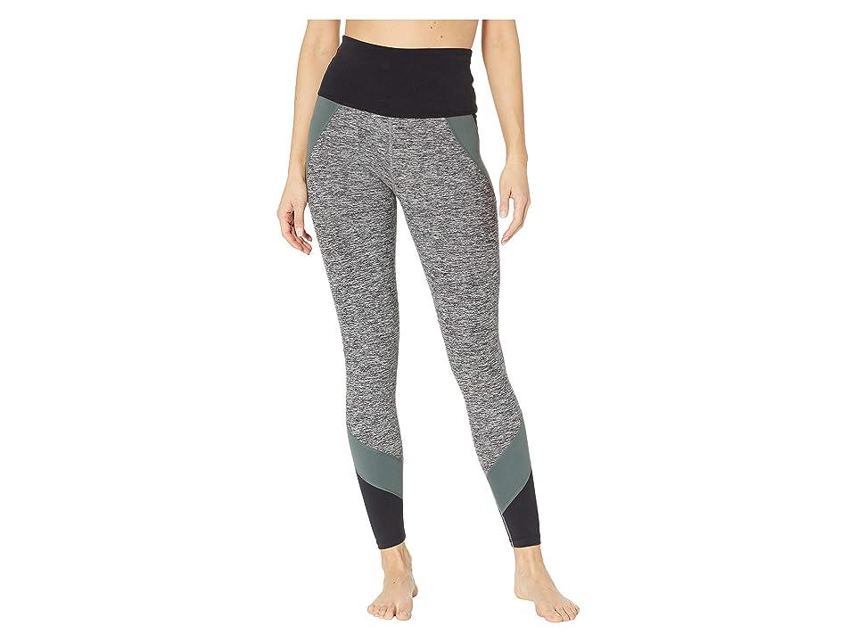 Beyond Yoga Color Blocked High-Waisted Long Leggings (Black Triple Block) Women