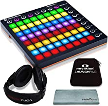 Novation Launchpad MK II Ableton Live Controller Bundle with Novation Launchpad Soft Carry Sleeve + Headphones + FiberTique Cleaning Cloth