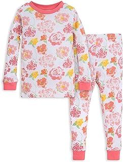 لباس خواب دخترانه ، چای و شلوار Burt's Bees's Baby Baby Girl، Tee and Pant 2-Piece Pj ، 100٪ پنبه ارگانیک