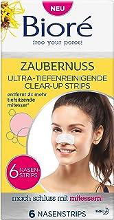 Bioré Tiefenreinigende Nasen-Clear-Up-Strips - Zaubernuss/ Witch Hazel -Entfernt Tiefsitzende Mitesser, 2er Pack2 X 6 Stück