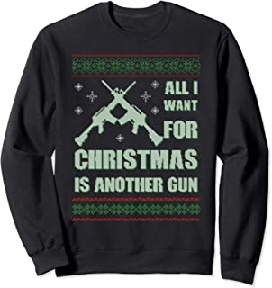 Guns For Christmas Ugly Hoodie Hunting Military Gift Idea