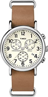 Timex Men's Weekender Chronograph 40mm Leather Watch TWC063500
