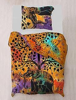 Sophia Art Doona Funda nórdica Mandala Indio Urbano algodón Manta Colcha con Fundas de Almohada de Doble tamaño Cama Individual–sin Relleno