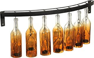 ELEMENTS Ombre Glass Bottle Wall Mounted Sconce with, 30-Inches, Amber