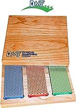 Apontador de amolar de diamante de 7,62 cm - 15,24 cm em caixa de madeira dura