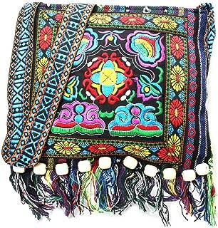 Vintage Ethnic Tribal Embroidered Tassel Sling Crossbody Boho Hippie Shoulder Bag