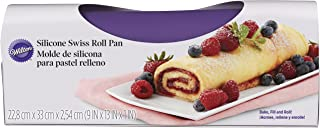 Wilton Silicone Swiss Roll Yule Log Fudge Candy Baking Mat Pan 9
