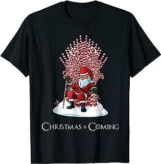 Santa Candy Cane Throne Funny Christmas T-Shirt