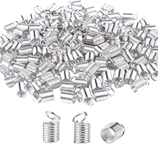 BronaGrand 150pcs Antiqued Brass Silver Crimp Fasteners Leather Cord Ends Caps Necklace Clasp Jewelry Parts 10x5mm