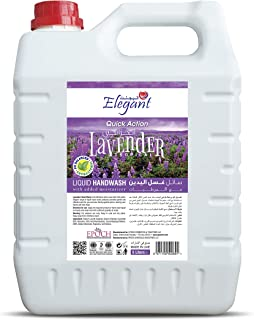 Elegant Hand Wash Liquid Refill - 5 Liter - Lovely Lavender - Effective Germ Protection – Liquid Hand Wash provides Gentle...