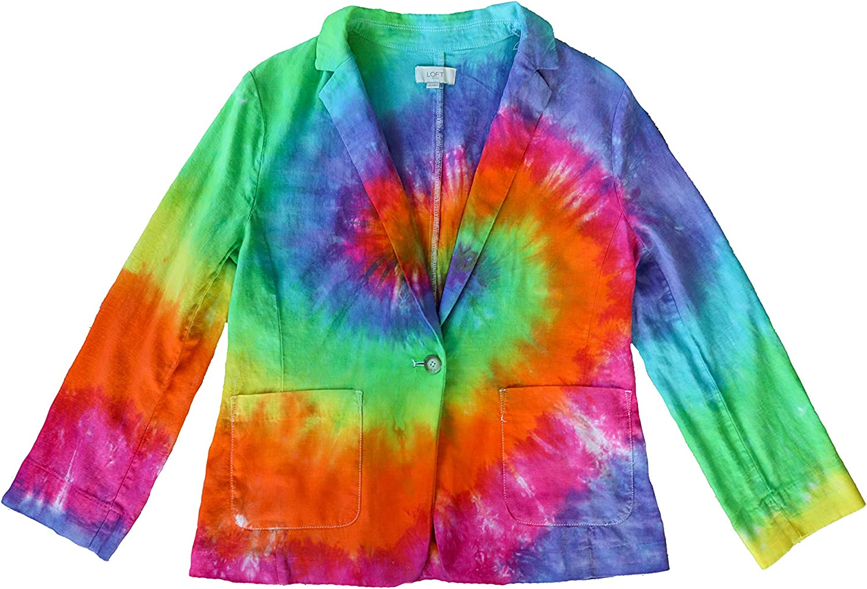 Outlet sale feature Tie Dye Women's Blazer - Casual OFFicial store Rainb Jacket Suit