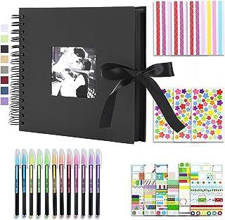 Vienrose Album Photo Scrapbooking 10x15 Livre Fait à La Main DIY Album 80 Pages Cadeaux pour Bebe Valentin Anniversaire En...