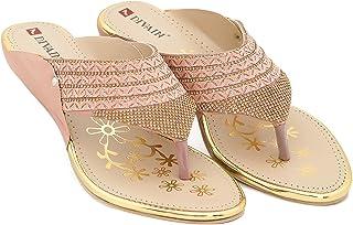 Divain Womens Floater Fashion Slippers (Art_502)