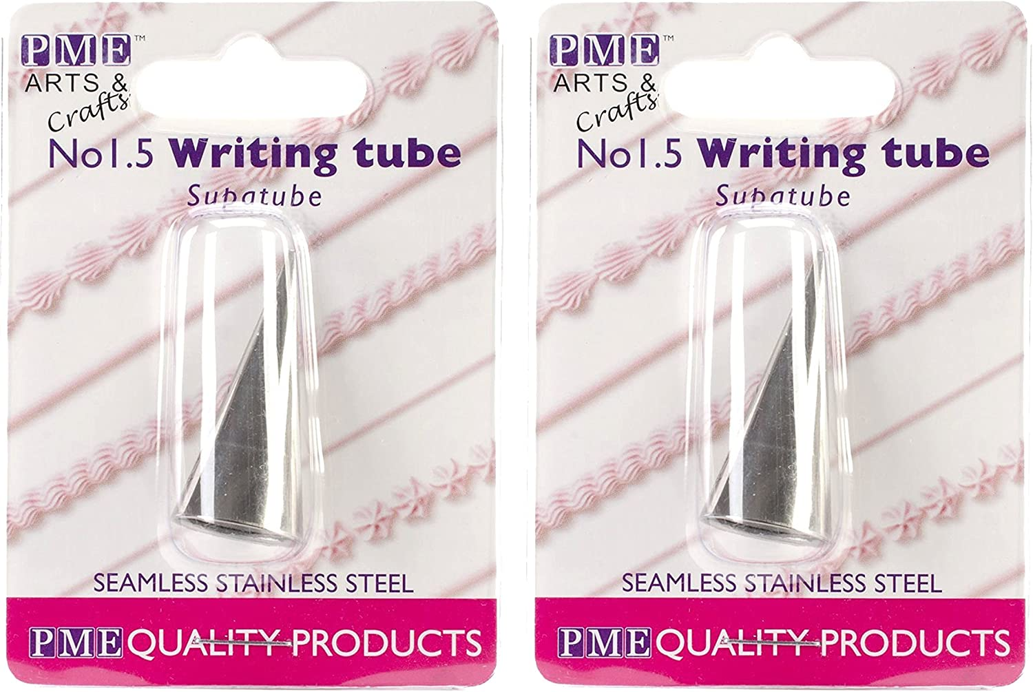 PME Seamless Stainless Steel Supatube, Writer No. 1.5 (Pack of 2)