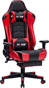 KCREAM Gaming Chair PC Computer Video Game Racing Gamer Chair High Back Reclining Executive Ergonomic Desk Office Chair (red)